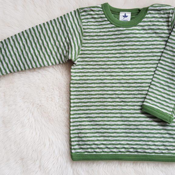 Baby Wende-Langarmshirt waldgrün beigemelange