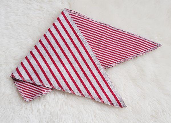 Leela Cotton Baby Dreieck-Tuch Wende-Tuch ziegelrot beigemelange
