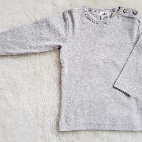 Leela Cotton Baby Langarmshirt beige melange