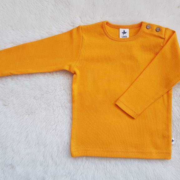 Leela Cotton Baby Langarmshirt sonnengelb