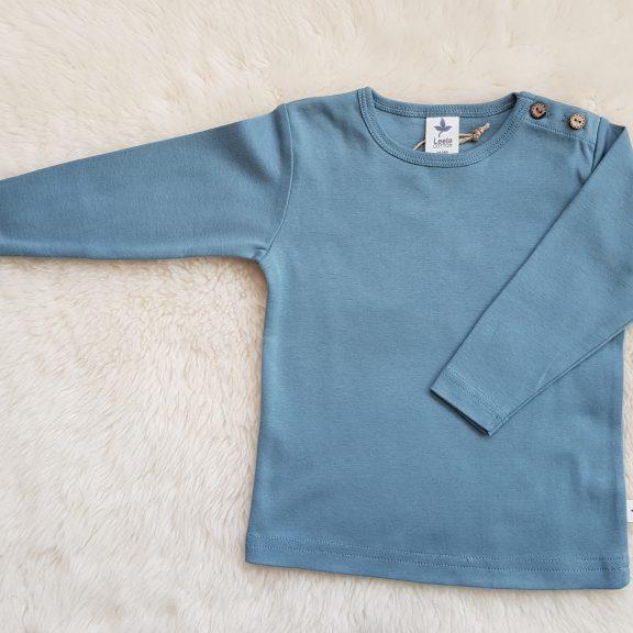Leela Cotton Baby Langarmshirt taubenblau