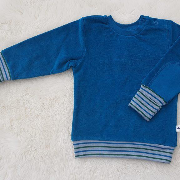 Leela Cotton Baby Nicky-Sweatshirt Pulli ozeanblau