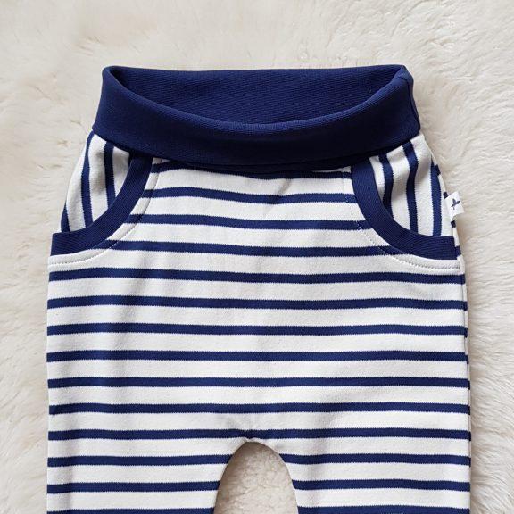Leela Cotton Baby - Haremshose navy natur