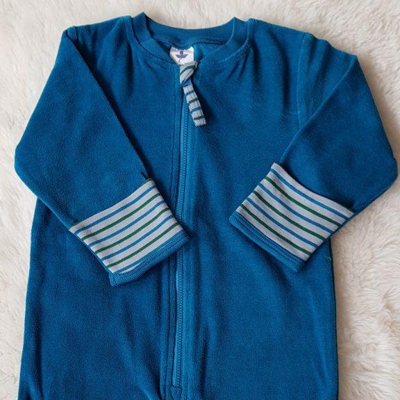 Leela Cotton Baby Nicky-Overall ozeanblau